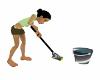 Animated mop & bucket