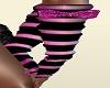 Black/Pink gloves w/bow