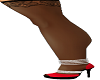 {D}black stocking heels