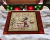 Christmas Cabin Door Mat