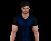 Blue Muscle V-Neck