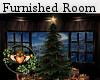 Furnished Christmas Room