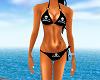 Bikini Emo Skull Black