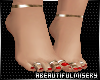 Bare Red Gold Toe ring