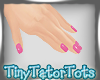 Pretty Pink Short Nails