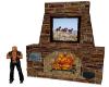 Wild Horses Fireplace