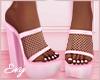 Pink Net Heels