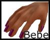 Dark Cherry Dainty Hand
