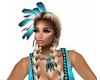 Native Sexy Blue Necklac