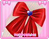 ♡ Red Hair Bow ♡