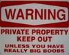 warning big boobs (sign)