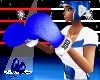 F Boxing Gloves Blue
