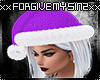 WOMENS SANTA PURPLE HAT