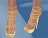 sparkle gold shoes nails
