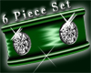 Green jewel cuffs 6pc F