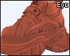 E.Neon Orange Sneakers