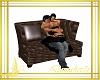 abrazo sofa cuero marron