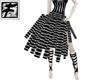 ~F~ SilverBlk Tube Skirt