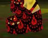 Red Skull Croc Heel