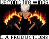 Demonic fire wings