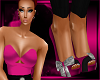 Pink High-Waist Heels