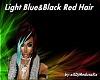 Light Blue&BlackRed Hair