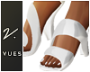 v. Swirl White Heels