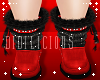 !D! Winter Fur Boots Red