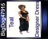 [BD] Teal Designer Dress