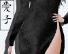 Aoi | Black Velvet Dress