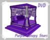 Purple Canopy Stars Bed