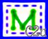 C2u letter M Sticker