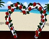 Beach Heart Rose Arch