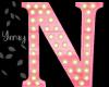 Pink Wood Letter N