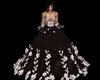 robe bal black fleur