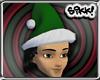 Green Santa w Blk Hair