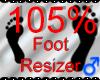 *M* Foot Resizer 105%