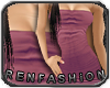 $R Plum Tube Dress