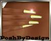 Long Gold Nails Dainty