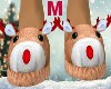 Male Rudolph Slippers