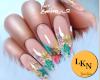 L. Floral Nails