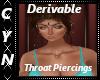 Derivable Throat Piercin