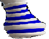 blue and white warmers