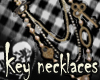 Key&Lock Necklace Gold