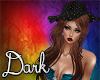 Dark Brown Hair&Hat