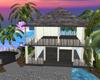 Casa de playa con puente