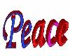 flashing peace floorsign