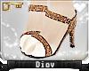 *D* Brown Glitter Heels