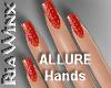 Glitter Red Nails