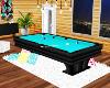 $ Blue Pool Table.